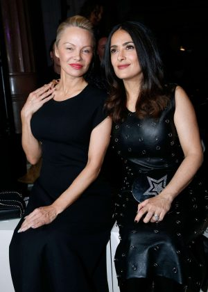 Salma Hayek and Pamela Anderson - Stella McCartney Show at 2017PFW in Paris