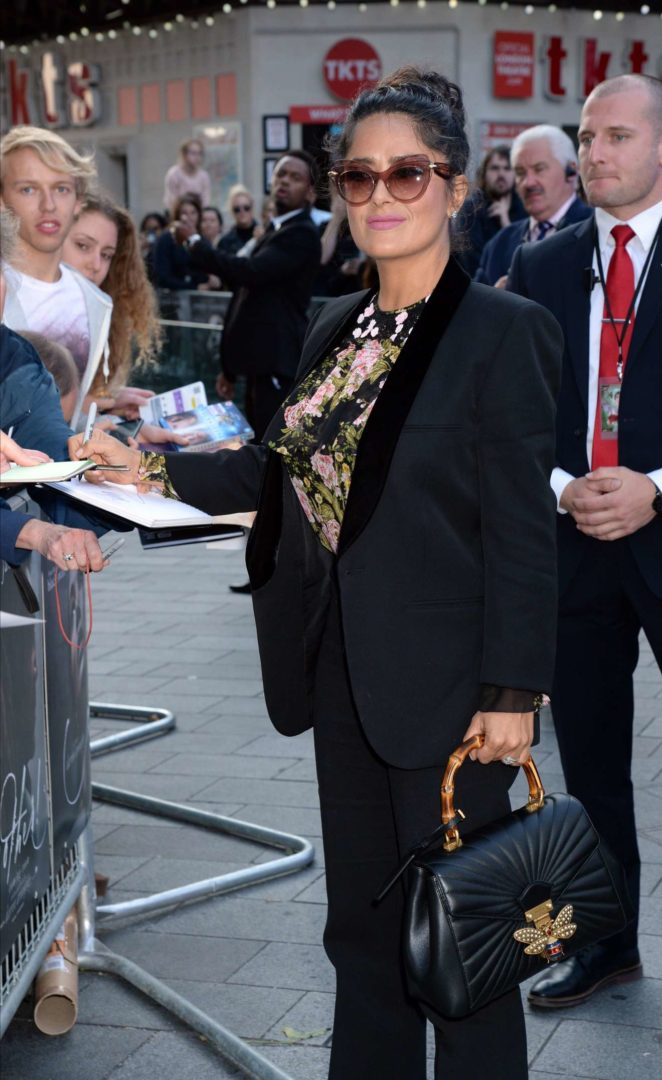 Salma Hayek - Arrives at Mother! Premiere in London
