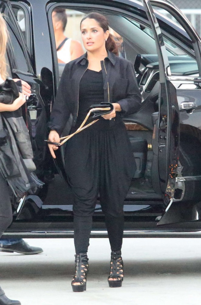Salma Hayek - Arriving at the Taylor Swift concert in LA
