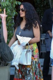 Salma Hayek at E Baldi in Beverly Hills