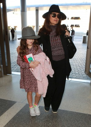 Salma Hayek at LAX Airport in LA