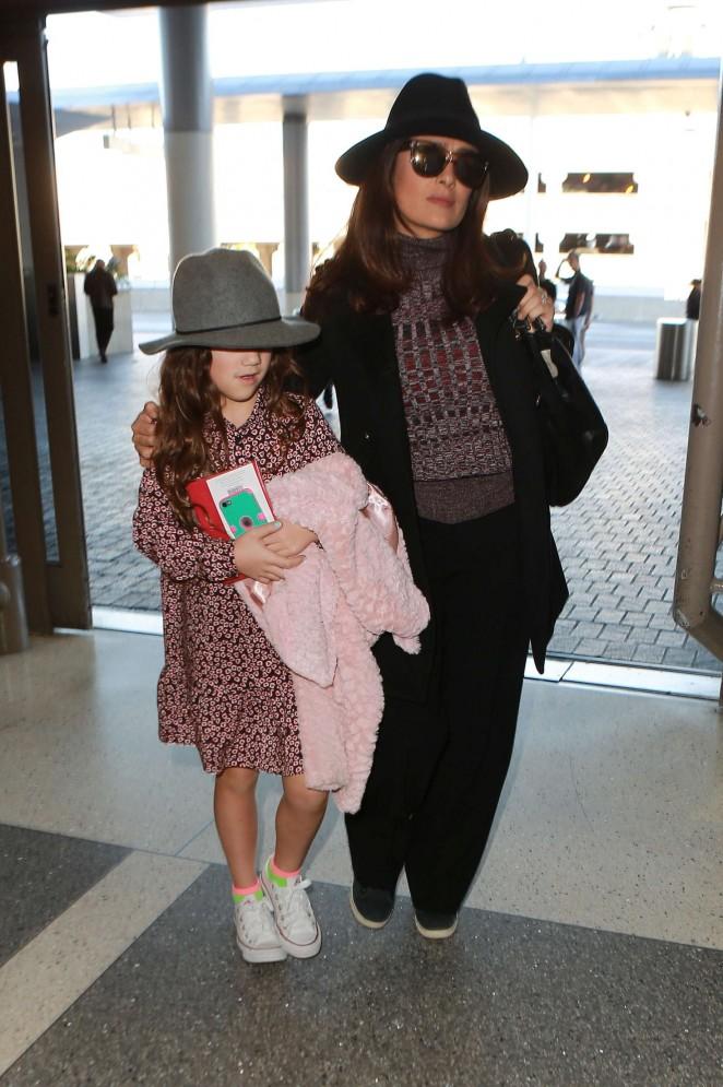 Salma Hayek at LAX Airport in LA
