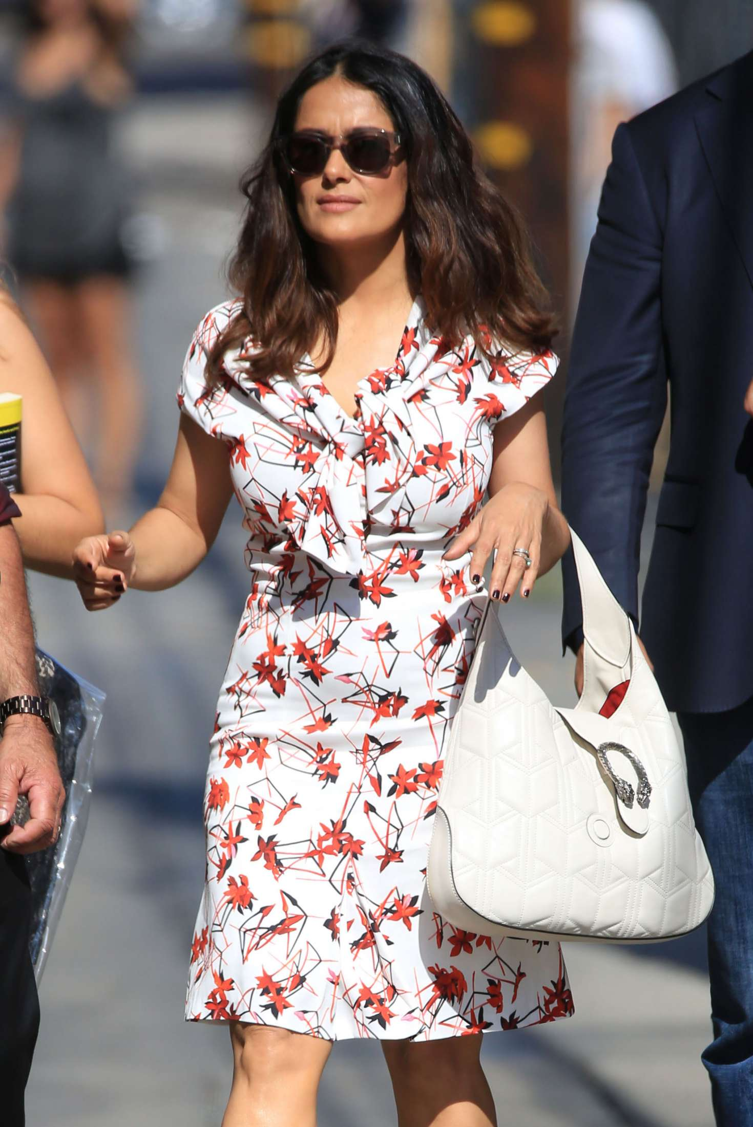 Salma Hayek at The Jimmy Kimmel Live! Set in Hollywood