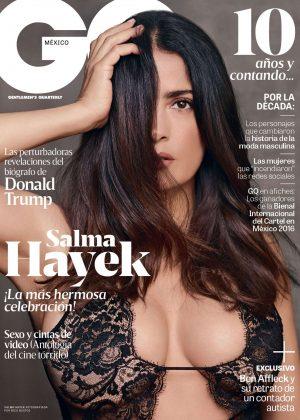 Salma Hayek - GQ Mexico Cover (November 2016)