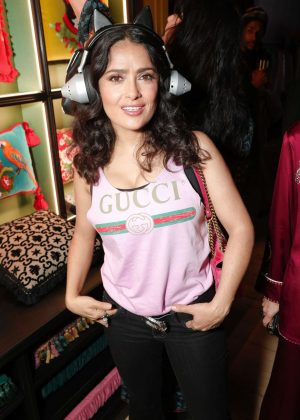Salma Hayek - Gucci Wooster Store Opening in New York