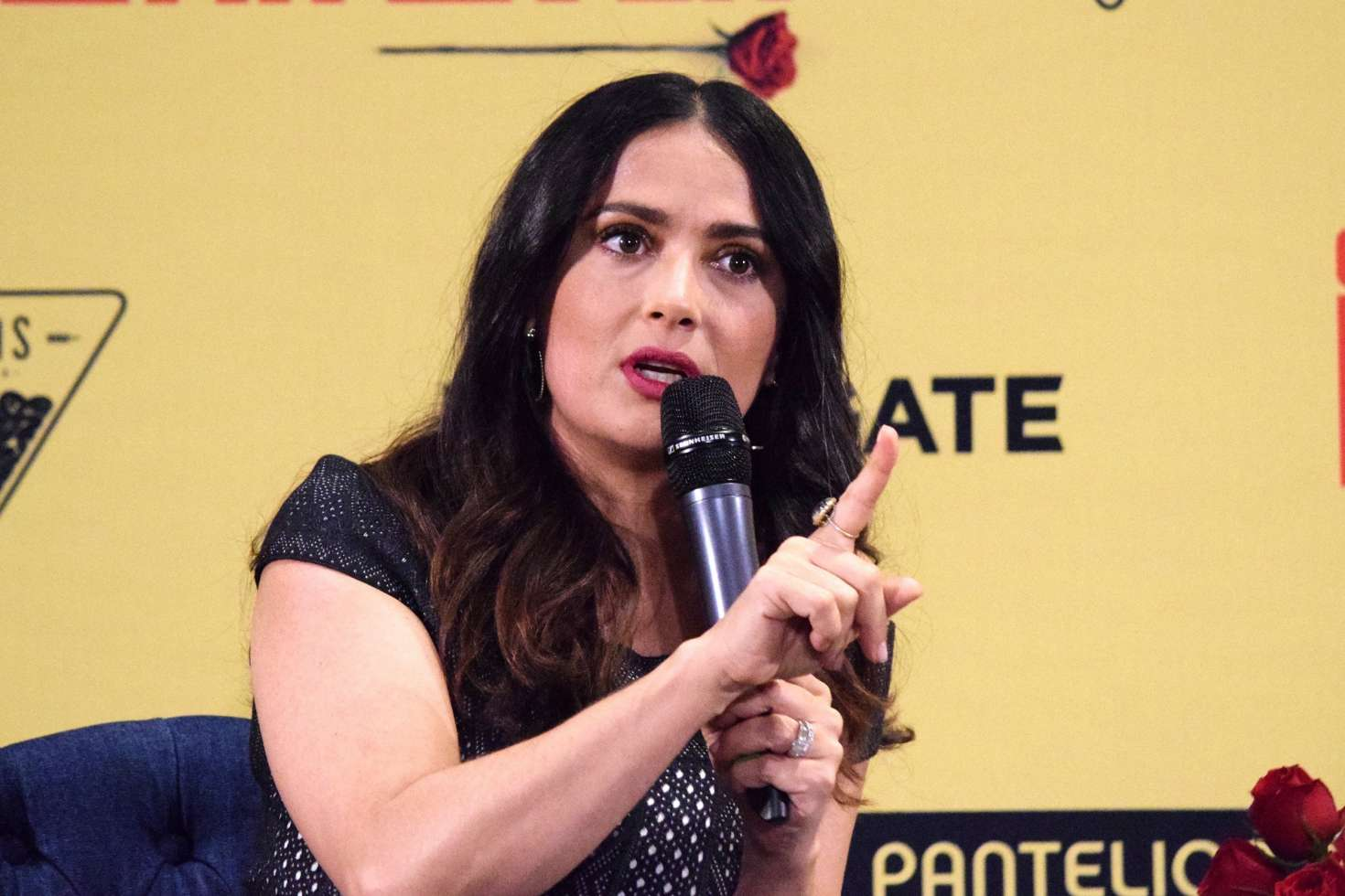 Salma Hayek: How To Be A Latin Lover Press Conference