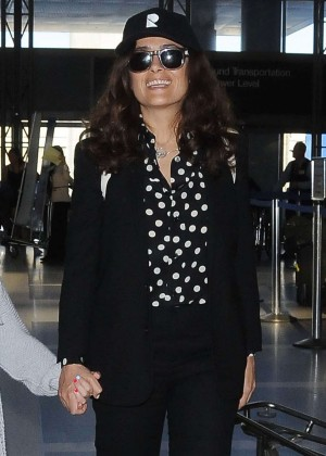 Salma Hayek - LAX Airport in LA