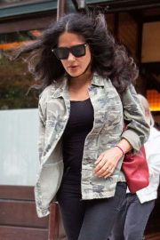 Salma Hayek - Leaves The Greenwich Hotel in New York