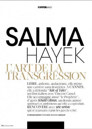 Salma Hayek: Madame Figaro Magazine 2015 -01