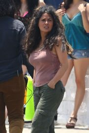 Salma Hayek - On the set of 'Bliss' in Los Angeles