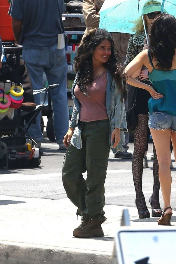 Salma Hayek – On the set of Bliss in Los Angeles-03