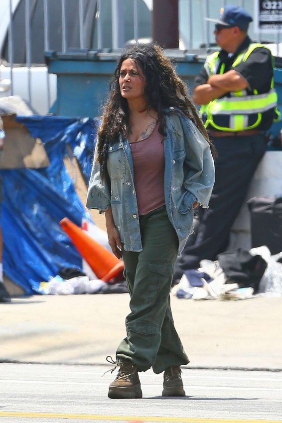 Salma Hayek – On the set of Bliss in Los Angeles-18