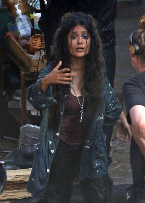 Salma Hayek – On the set of Sci-Fi Thriller Bliss-13