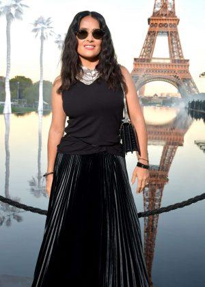 Salma Hayek - Saint Laurent Fashion Show in Paris