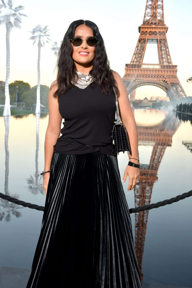 Salma Hayek - Saint Laurent Fashion Show in Paris