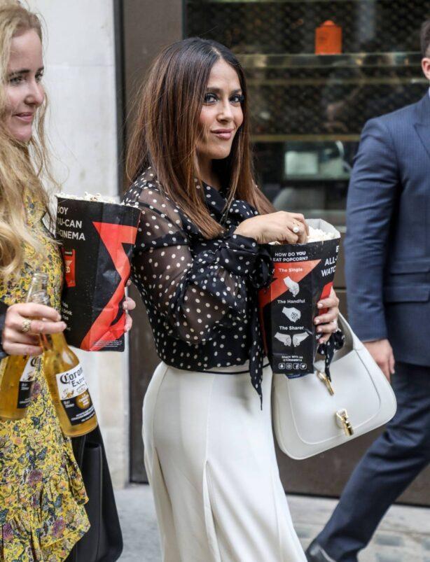 Salma Hayek - Seen after Premiere of The Hitman's Wife's Bodyguard in London