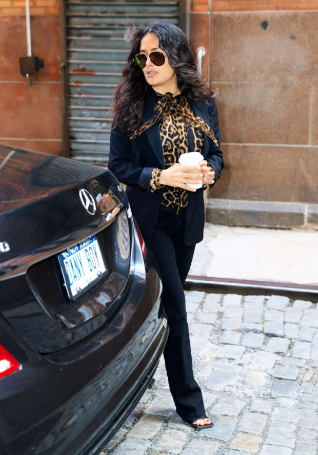 Salma Hayek: Seen in windy New York-05
