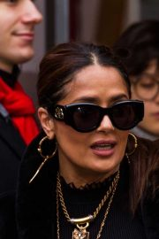 Salma Hayek - Seen while out during the 70th International Film Festival in Berlin