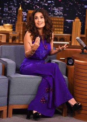 Salma Hayek - The Tonight Show With Jimmy Fallon in NYC