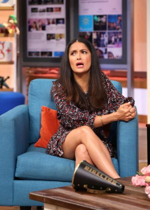 Salma Hayek - Visiting 'Despierta America' in Miami