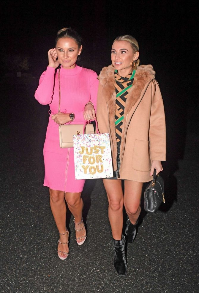 Sam and Billie Faiers - Arrives at Billie Faiers Birthday Celebrations in Essex
