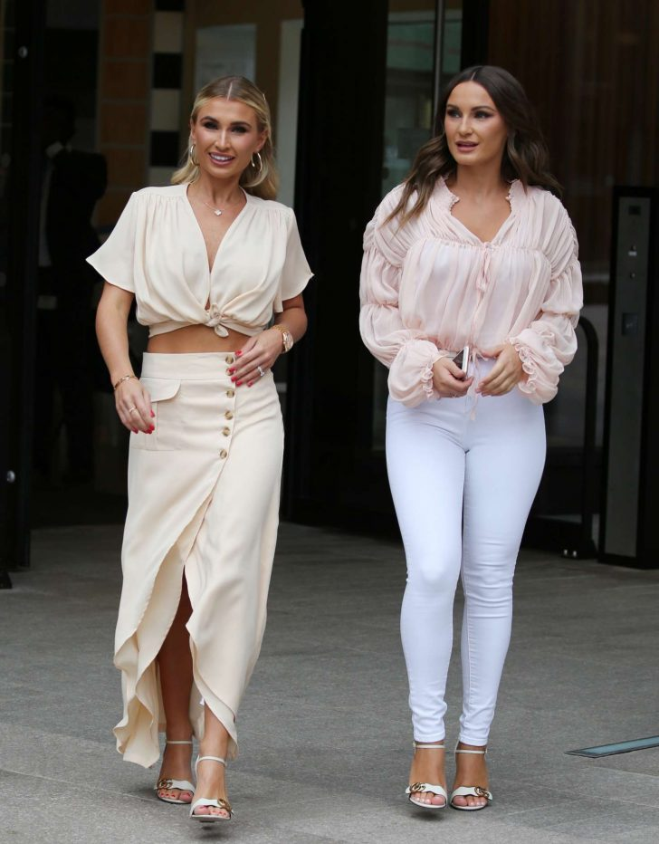 Sam and Billie Faiers at ITV Studios in London