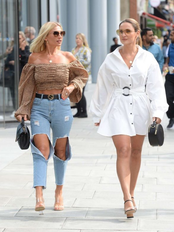 Sam and Billie Faiers - Leave ITV offices in London