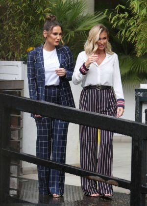 Sam and Billie Faiers - Outside ITV Studios in London