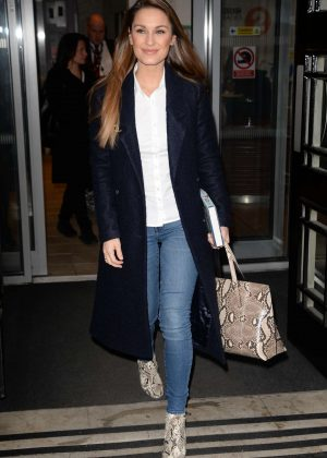 Sam Faiers at BBC Radio 2 in London