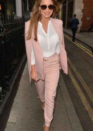 Sam Faiers - Attends a business meetings in Mayfair
