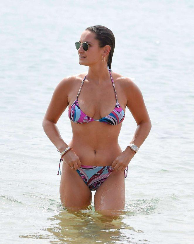 Sam Faiers in Bikini at the beach in Sardinia