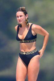 Sam Faiers in Black Bikini on vacation in France
