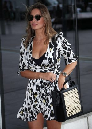 Sam Faiers - Leaving Park Plaza Westminster Hotel in London