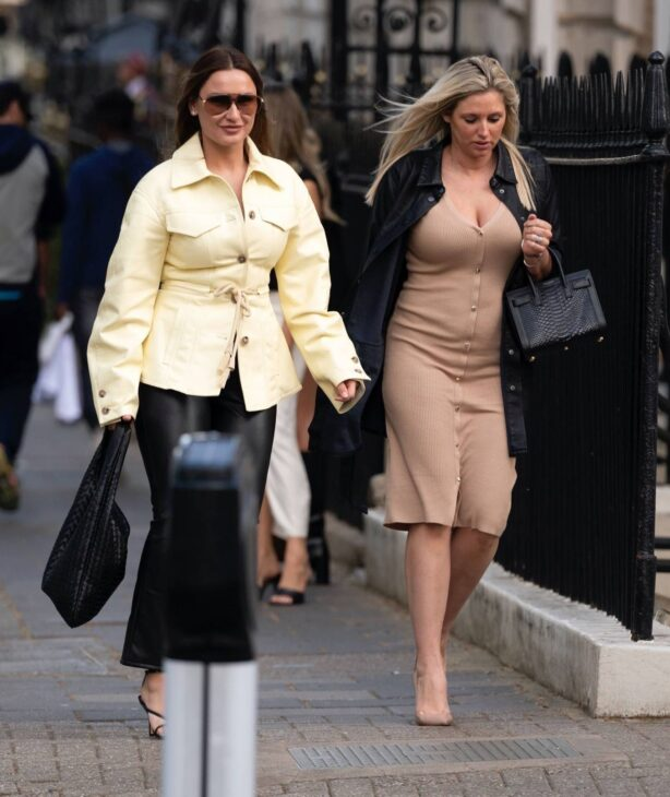 Sam Faiers - leaving the Mayfair hotspot Annabels Private Members Club in London