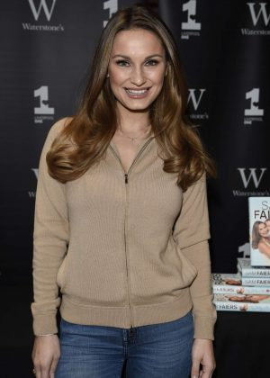 Sam Faiers signing copies of her new book at Waterstones in Liverpool