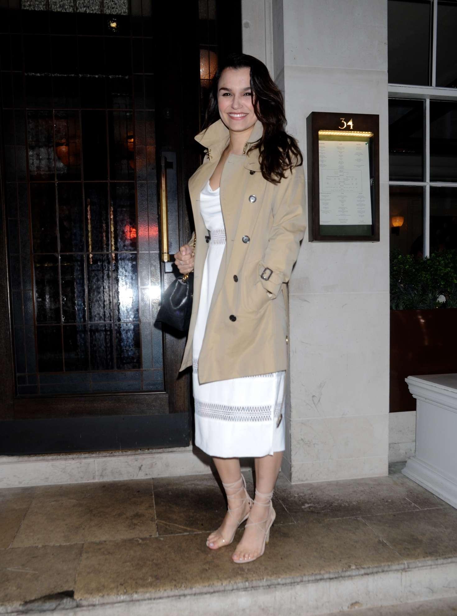 Samantha barks urban decay vip dinner in london uk