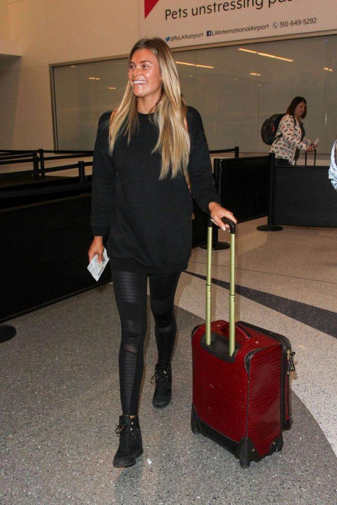 Samantha Hoopes at LAX airport in Los Angeles