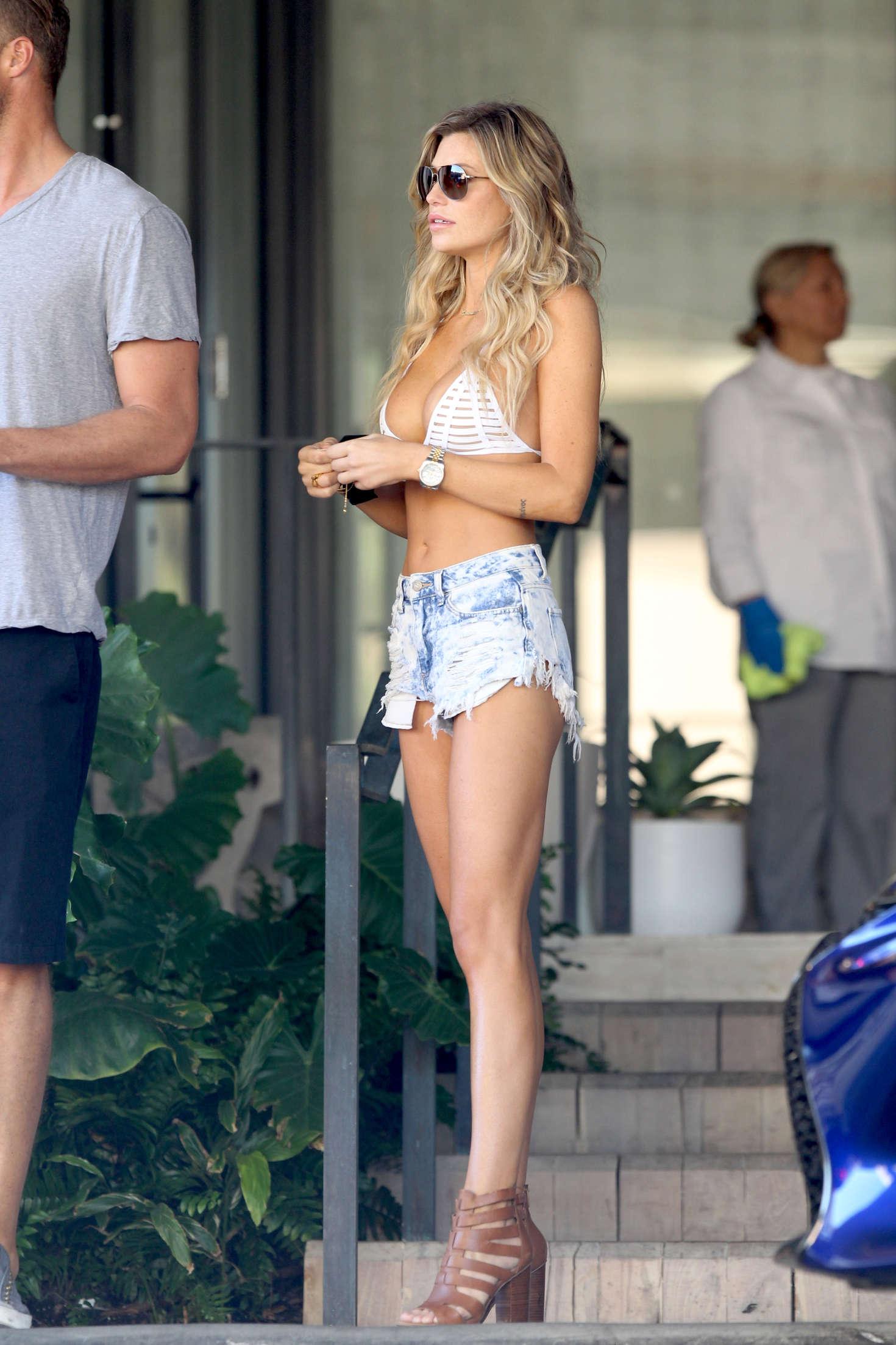 Samantha Hoopes 2016 : Samantha Hoopes in Jeans Shorts and Bikini Top -14