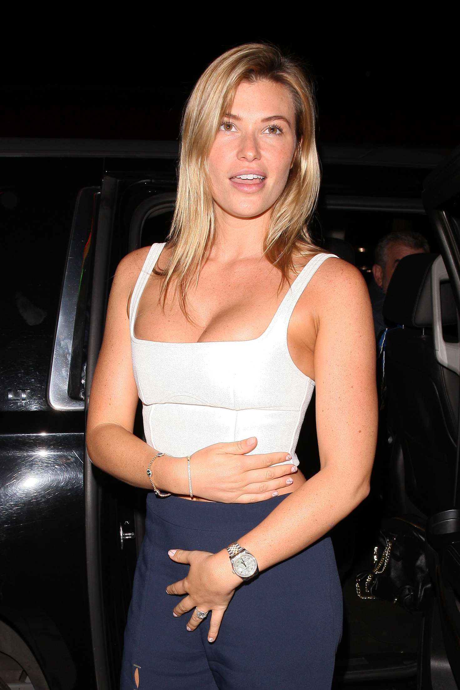 Samantha Hoopes - Leaving Delilah club in West Hollywood