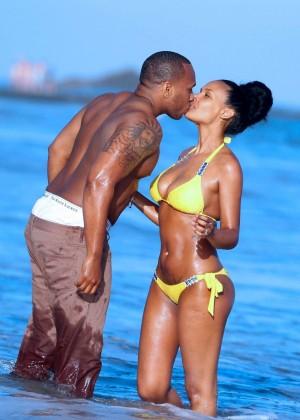 Samantha Mumba in Yellow Bikini -01