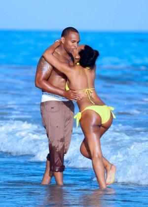 Samantha Mumba in Yellow Bikini -02