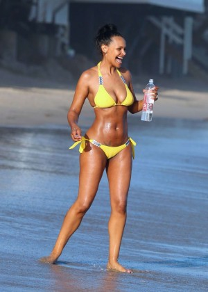 Samantha Mumba in Yellow Bikini -04