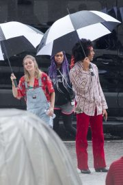 Samara Weaving - On the set of 'Bill and Ted 3' in New Orleans