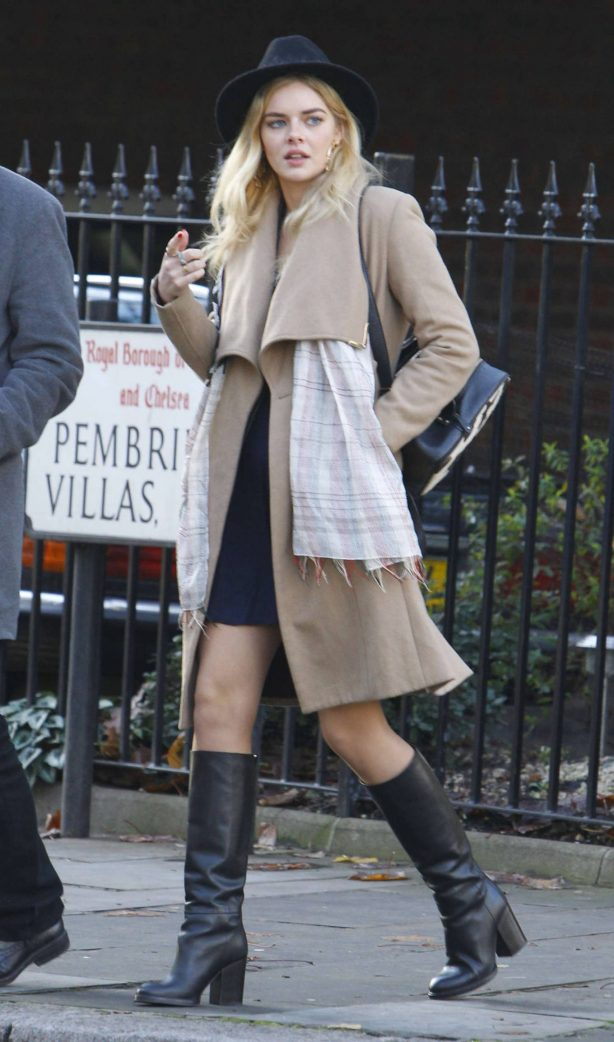 Samara Weaving - Seen while out and about in London
