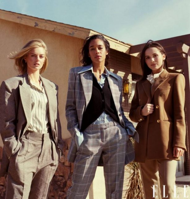 Samara Weaving with Laura Harrier and Maude Apatow - ELLE Magazine 2020 issue