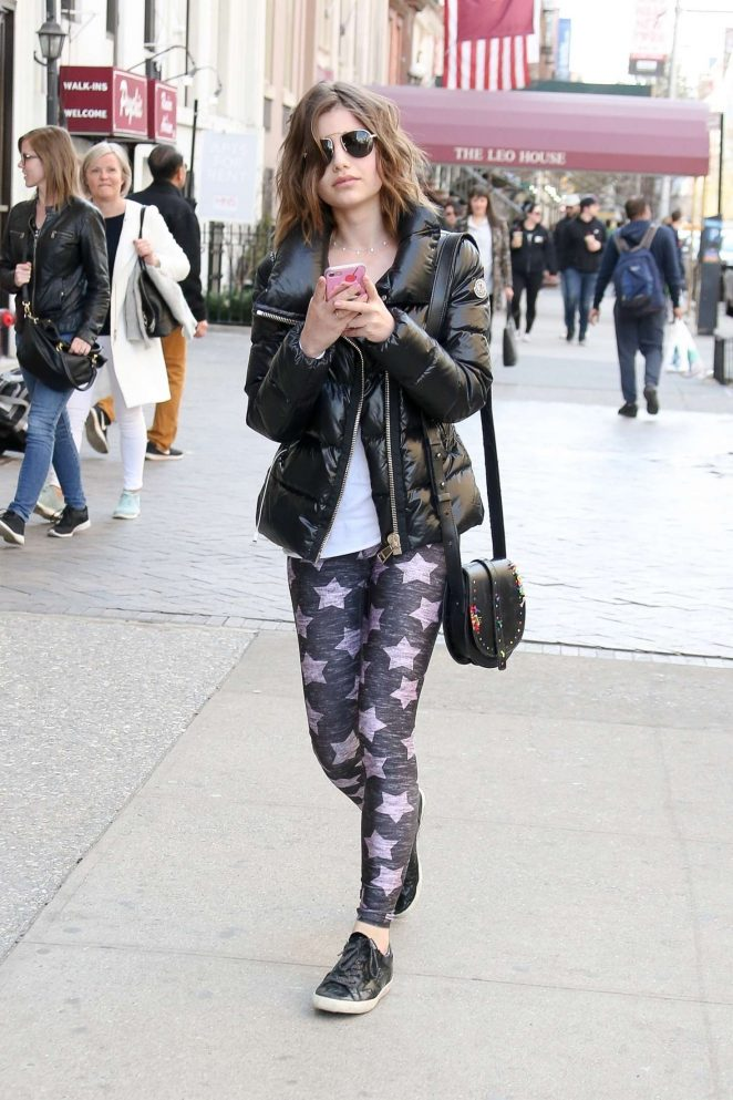 Sami Gayle in Tights out in New York City