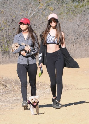 Sammi Sanchez and Sonia Ben Ammar in Tights out in Beverly Hills