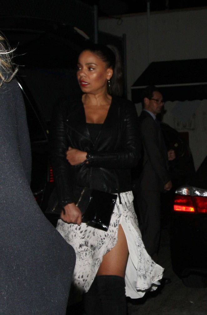 Sanaa Lathan Leaves Craig's Restaurant in West Hollywood