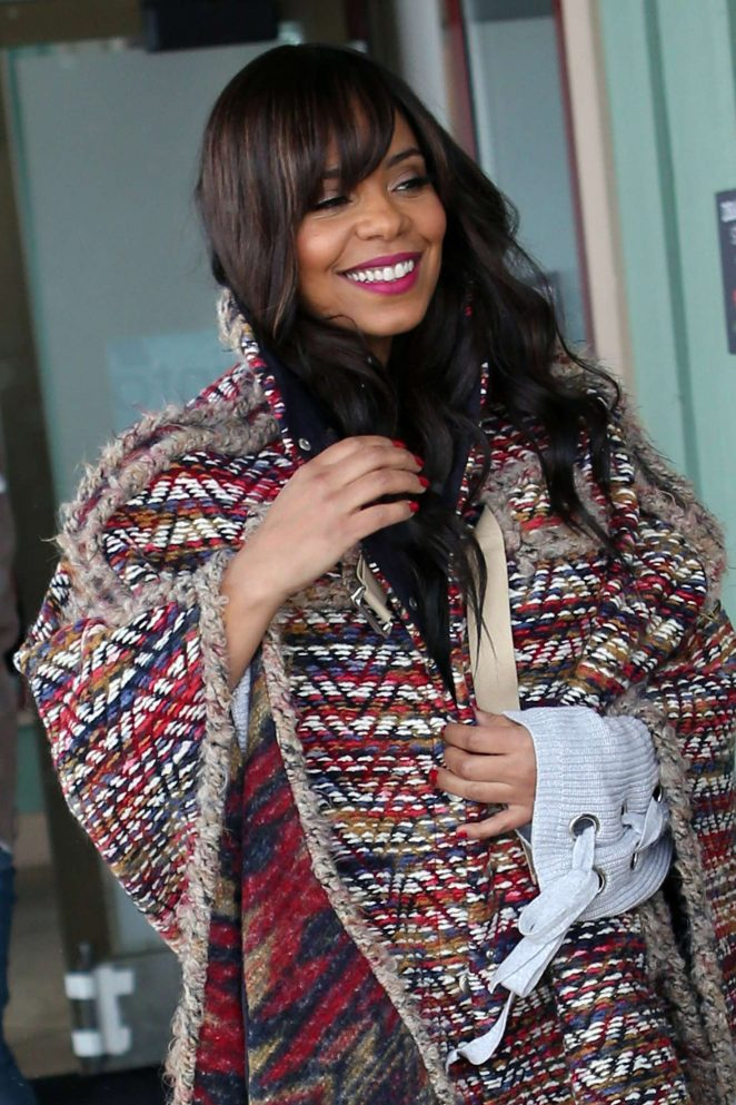 Sanaa Lathan out at 2017 Sundance Film Festival in Utah