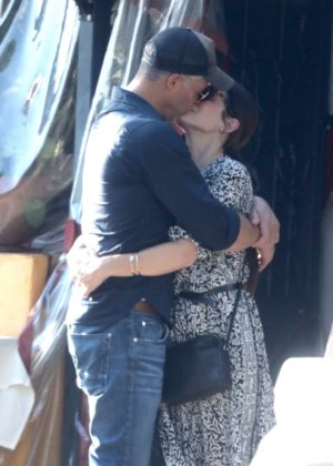 Sandra Bullock and Bryan Randall Kissing in Beverly Hills